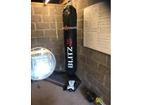 Blitz 6ft punch bag and boxing gloves