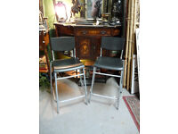 2 Plastic Bars Stools with Back Rests
