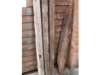 Antique Oak timbers, joists, old timber beam