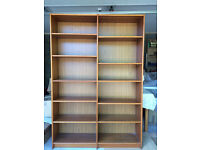 Double fronted bookcase