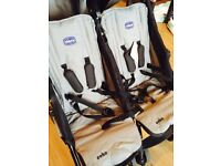 CHICCO TWIN PUSHCHAIR MINT CONDITION