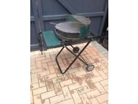 Small barbeque on legs for the garden