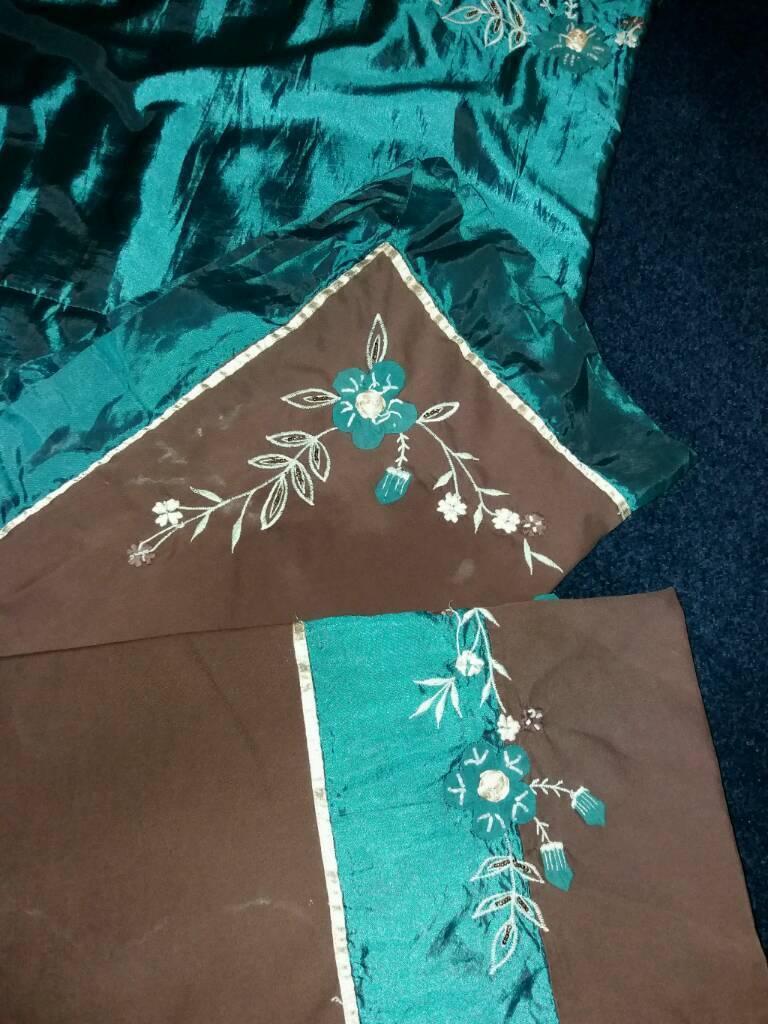 Chocolate&teal bedding set