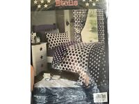 Star curtains 66x54 and single bedding