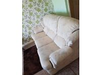 3 SEATER SETTE AND ARM CHAIR