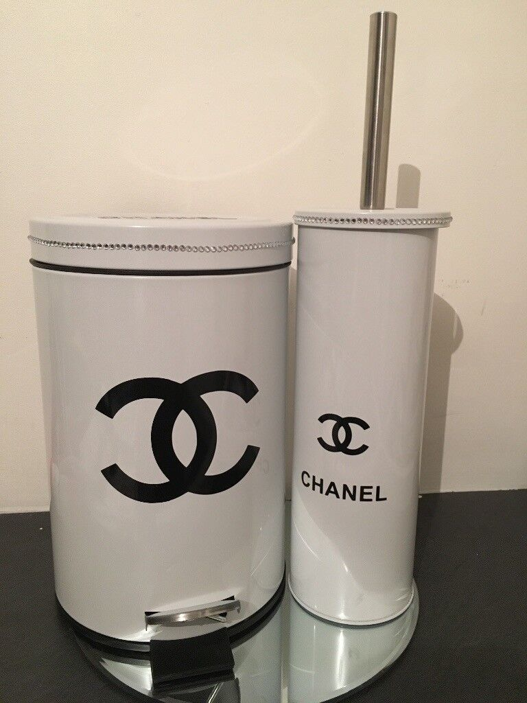 Cc Bathroom Bin And Toilet Brush Set