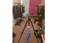 Manfrotto tripod with 3 way head