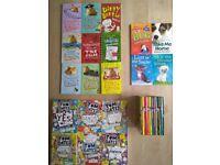 Variety of children's books incl. Horrid Henry and Tom Gates