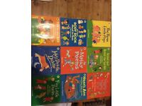 Set of 9 Children's Nursery Rhyme, Story and Poetry books.