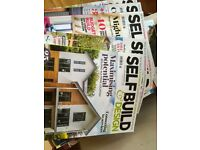 Self Build Magazine x 12 from August 2016 to July 2017. Ideal for anyone building a home. £6.00 lot.