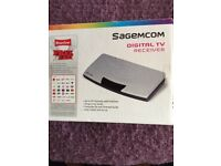 Sagecom Digital TV receiver. Brand new in box. 50 channels with Freview.