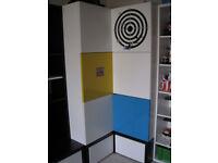 youth kids corner wardrobe with 2 drawers underneath