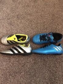 Kids Adidas football boots size 11 - 2 pairs