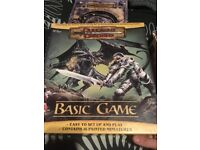 Dungeons and Dragons starter set with mini figures and V3.5 rule books.