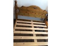 Solid pine double bed £40 need gone ASAP