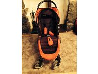 Baby jogger city mini 4 wheel - red and black