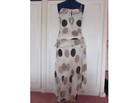George 2 piece cream/brown fully lined skirt suit Size 10/12 Excellent condition