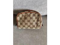 Genuine vintage Gucci make up/toiletry bag