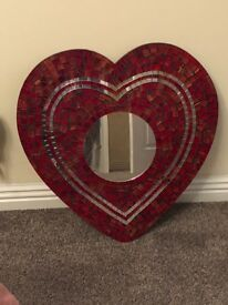 Bespoke Mosiac Love Heart Wall Mirror
