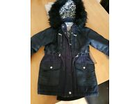 Girls age 7 thick coat from Tesco Navy