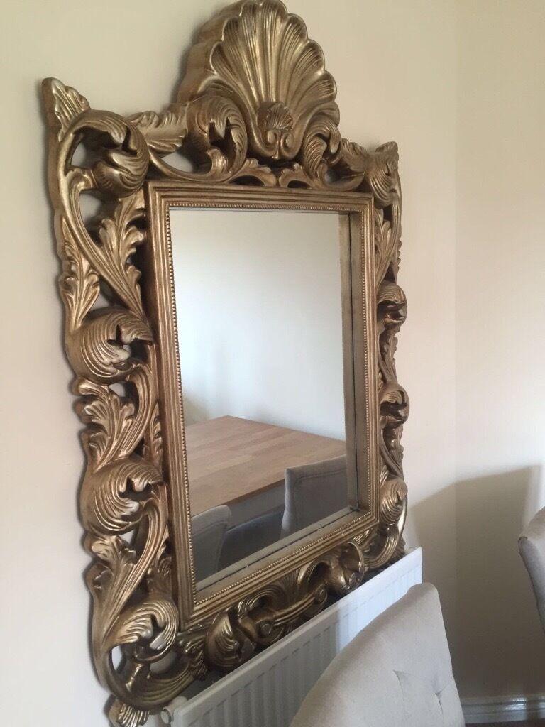 Dunelm Mill Baroque Antique Gold Ornate Decorative Mirror
