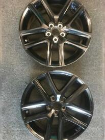 TWO Toyota Prius alloy wheels 7x17 for sale great condition £150 call 07860431401