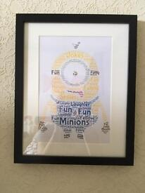 Minions framed picture