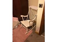 Lovely wooden rocking chair