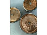 3 Copper pots / handi