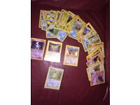 60 vintage Pokemon cards,Inc 3 Holos and 1 Promo.