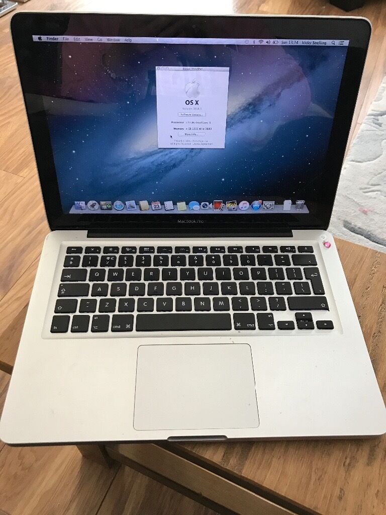 MacBook Pro 13 inch, Mid 2012in Gorseinon, SwanseaGumtree - MacBook Pro 13 inch, Mid 2012 Processor 2.5 GHz intel Core i5 Memory 4GB 1600 MHz DDR3 Graphics Intel HD Graphics 5000 512 MB Software OS X 10.8.5 Storage 500GB I am selling my MacBook Pro. The mac is in complete working order. This has only been...