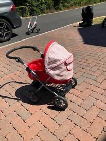 Kids toy pushchair