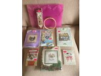 Great set of 7 needle point ..cross stitch