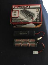 Hpi savage x2 and battery packs smart charger ideal for rotostart rc nitro cars