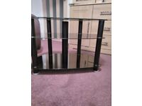 3 TIER BLACK GLASS TELEVISION STAND FIT UP TO 32inchTELEVISION