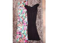 Tammy long dress, size 10, New Look black dress size 8. £4 for both. Torquay but can post.