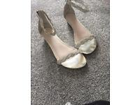 New look crystal sandals worn once size 6