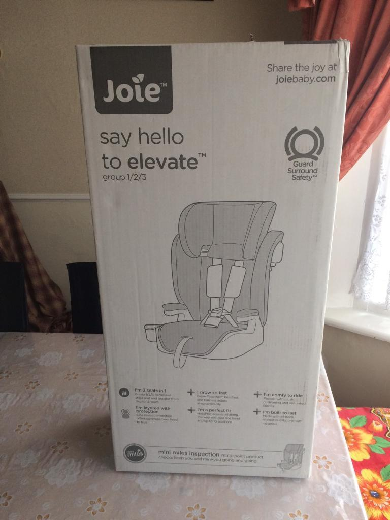 Brand New Joie Elevate Group 1-2-3 Cherry Car Seat