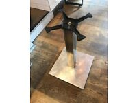 Table top bases - Mint condition - Stainless steel