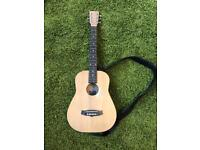 Tanglewood TWR-TE 3/4 size electro acoustic travel guitar