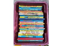 3 boxes of annuals ranging from 60s