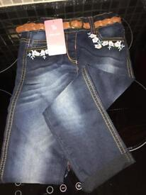 Girls jeans aged 3-4 New with tags!