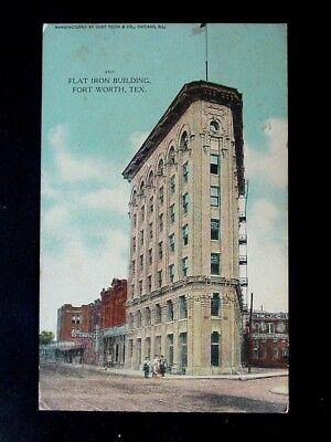 1908 Stores Flat Iron Building Fort Worth TX post (Flatiron Store)