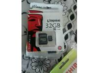 Kingston memory card 32gb brand new packed