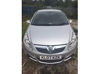2007 VAUXHALL CORSA 1.4, 3 DOOR SILVER, 12 MONTHS MOT. FULL SERVICE HISTORY. 3 MONTH WARRANTY.