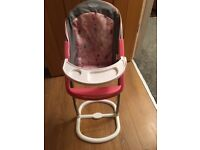Baby born dolls high chair
