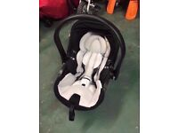 Reclining Kiddy Evo Lunafix Baby Car Seat with Isofix Car fitting. Good Condition