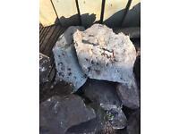 Rustic slate edging stones