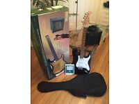 Superb Burswood Electric Guitar with Bag, Amp, Lead, Strap, Extra Strings - As NEW
