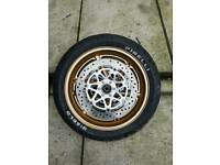 Cbr 900 rr complete front wheel